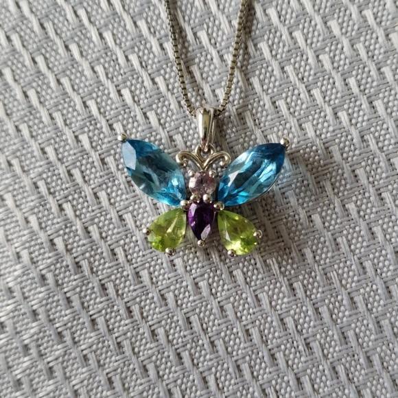 1481287b9 Kay Jewelers Jewelry | Kays Jeweled Butterfly Necklace | Poshmark